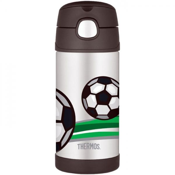Thermos FUNtainer - detská termoska so slamkou - futbal 355 ml 0cfc1a63631