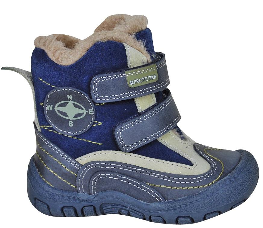 263f0c02cf0ee Zimná obuv RIVER navy - zateplené kožušinkou empty
