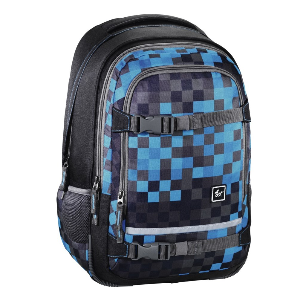 "Školský ruksak All Out ""Selby"" Backpack, Blue Pixel"