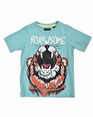5be05928d044 Tričko modré s potlačou tigra Blue Seven