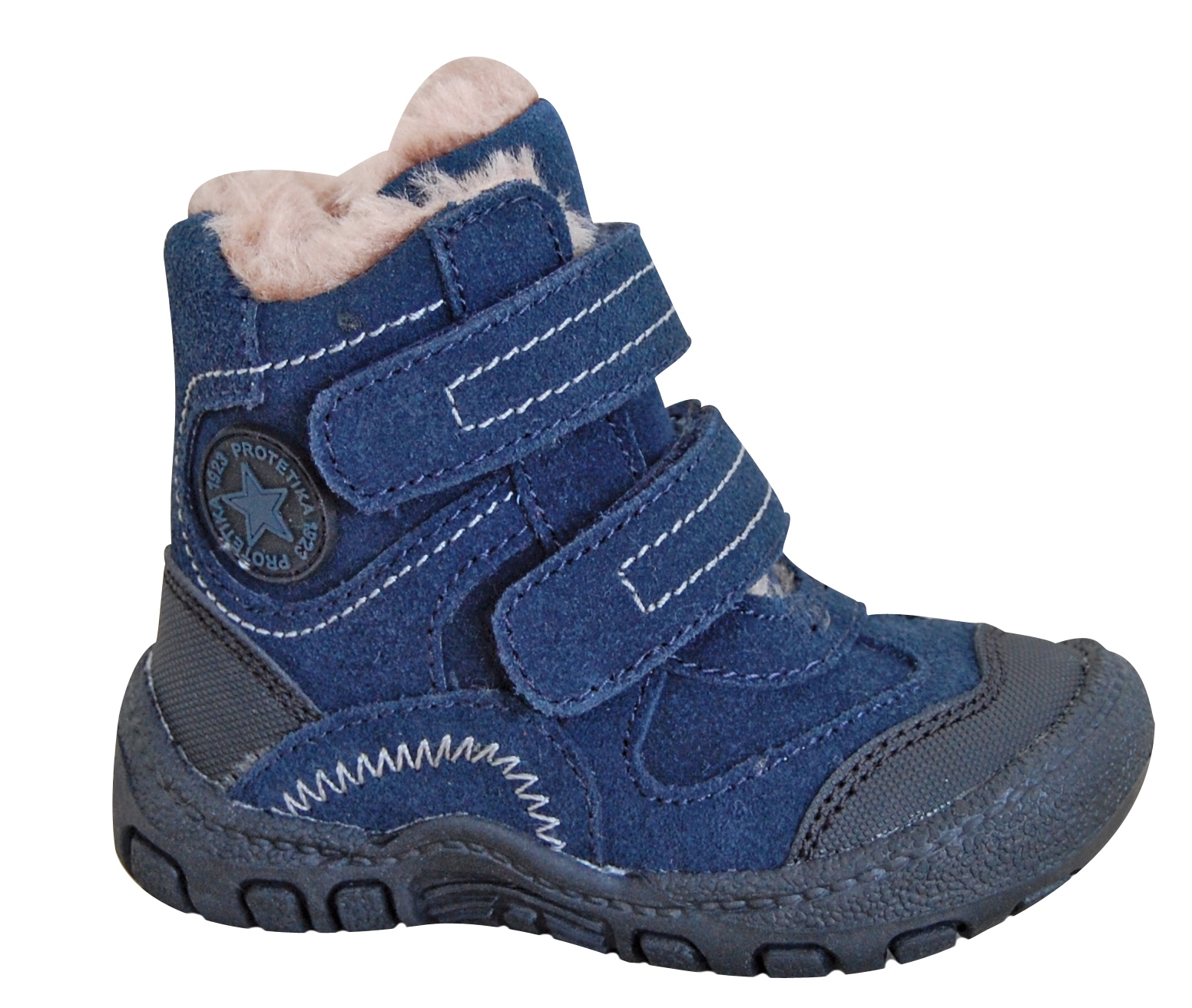 fd0cc938a7c4 Zimná obuv DEREX denim - zateplené kožušinkou empty