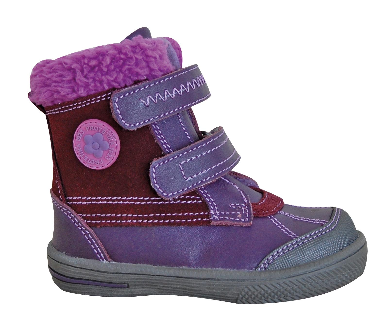 04196035cde7 Zimná obuv FRENK purple empty