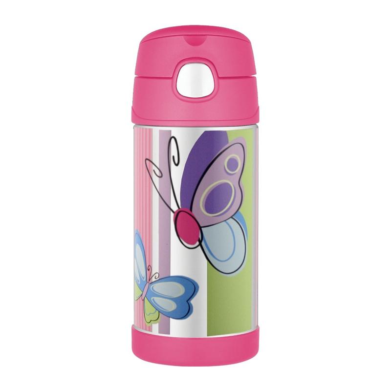 Thermos FUNtainer - detská termoska so slamkou - motýľ 355 ml 4c2b678a0be