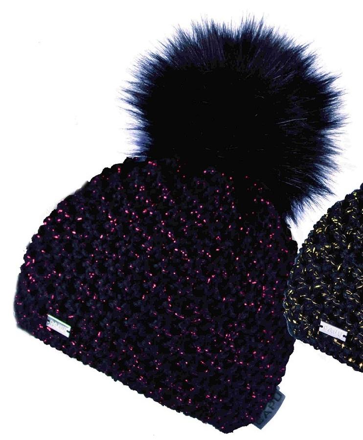 c5f16d1eb Dámska móda | Zimná čiapka s brmbolcom CAPU 367 čierno-červená ...