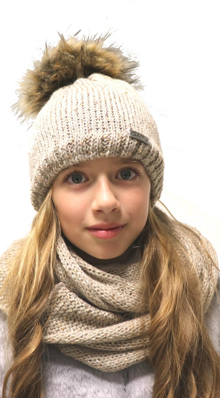 9a979f5a6 Detská móda | Zimná čiapka s brmbolcom CAPU 388 hnedá | Mayoral ...