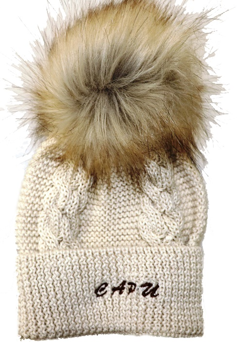 1c398ff4f Detská móda   Zimná čiapka s brmbolcom CAPU 1004 béžová   Mayoral ...
