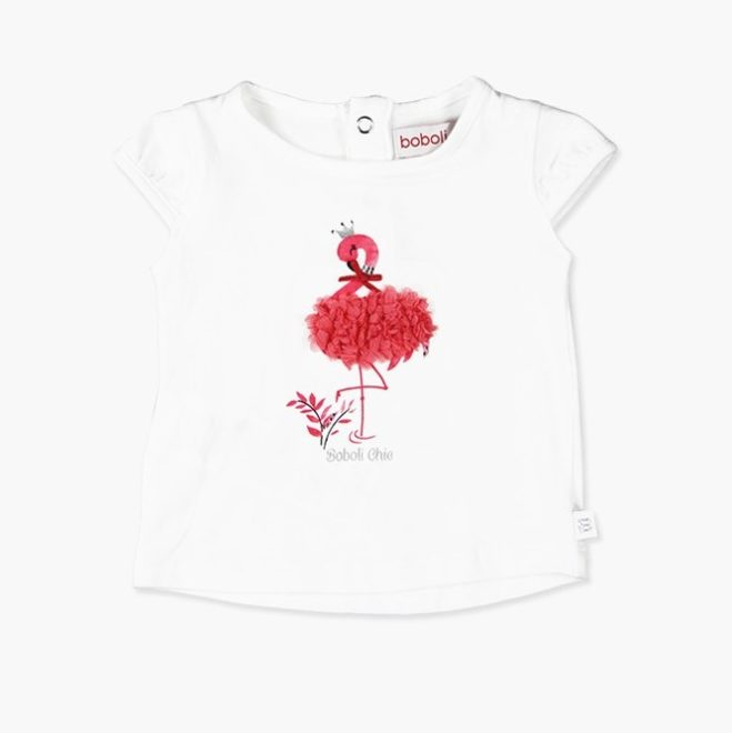 Boboli 27703156-1100 Stretch knit t-Shirt for baby girl