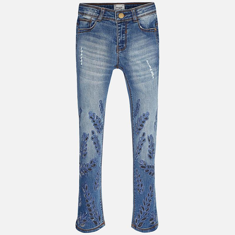 0aaa51cd2d74 Rifľové nohavice s vyrezávaným vzorom Mayoral - 2706529005 empty
