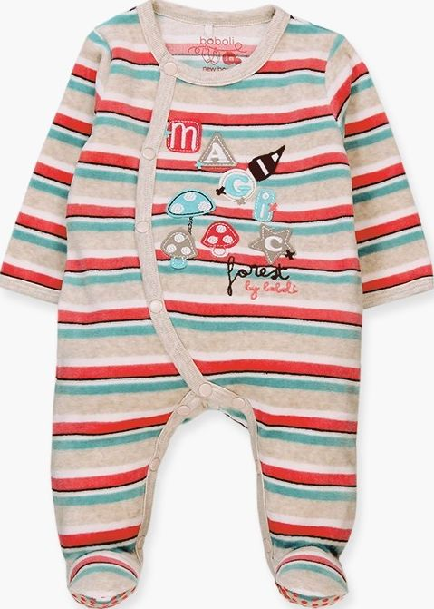 Boboli 17114095-9537 Velour play suit unisex with stripes in various colours, th