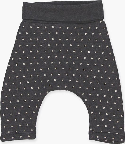 Boboli 17144021-9551 Knit trousers in grey vigore with print of dots, low-waist,