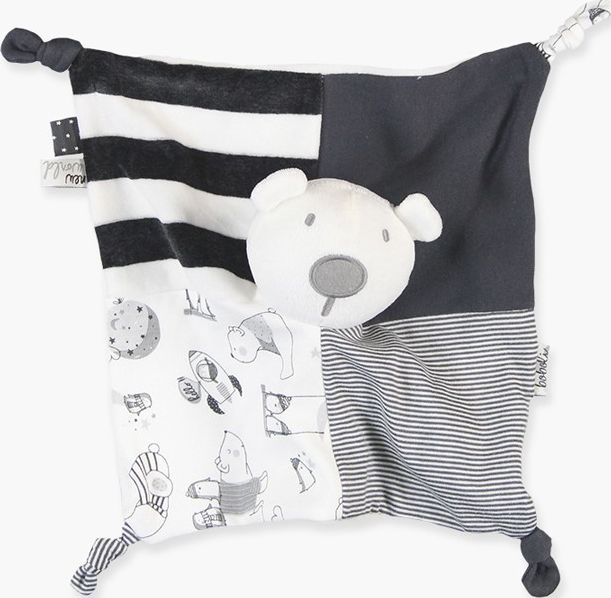Boboli 17144144-8076 Doudou unisex bear combined with various fabrics of knit in