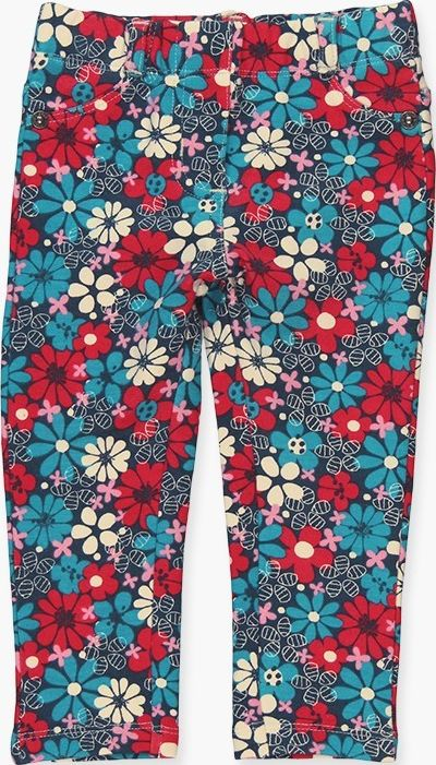 Boboli 17224110-9599 Stretch fleece trousers for girl with flowers print in vari