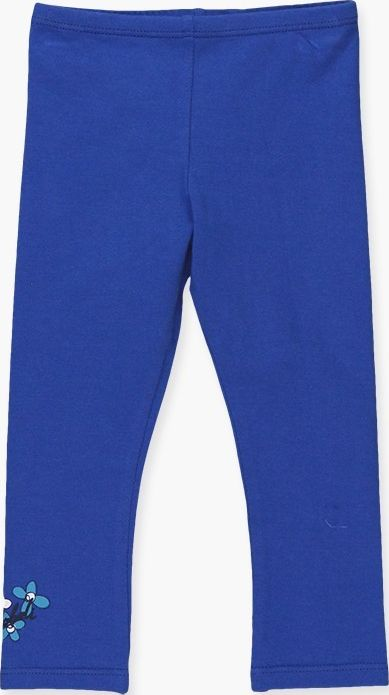 Boboli 17294038-2389 Stretch knit leggings for girl in colour blue with brand de