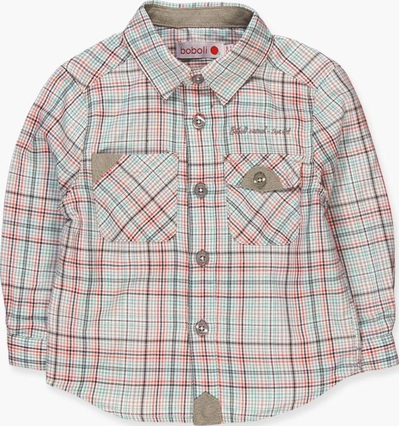 Boboli 17314097-9539 Viella shirt for boy with long sleeves squared in various c