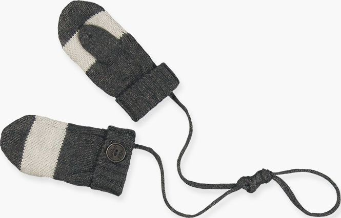 Boboli 17344124-8070 Knitwear mittens for boy in colour dark grey vigore and lig
