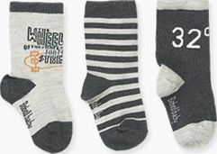 Boboli 17394006-8076 Pack 3 socks for boy. 1- socks in colour storm with jacquar