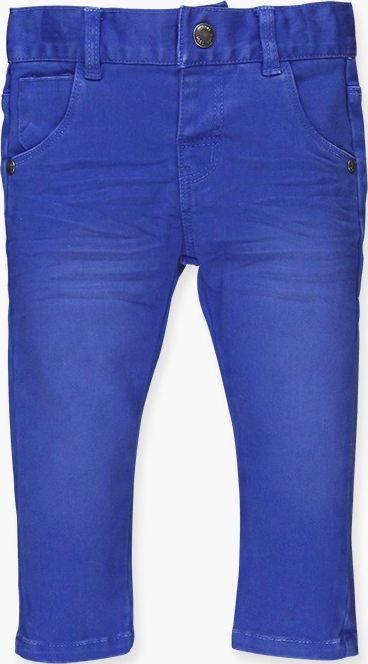 Boboli 17394039-2389 Stretch denim trousers for boy in colour blue, the waist is