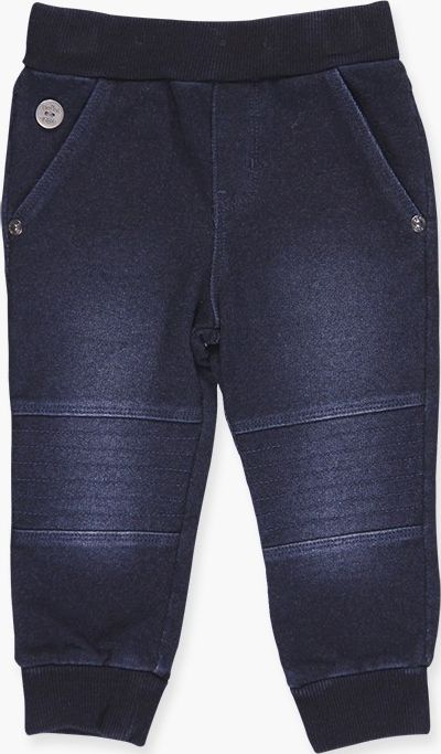 Boboli 17394040-BLUE D. Fleece denim trousers for boy in colour blue dark, waist