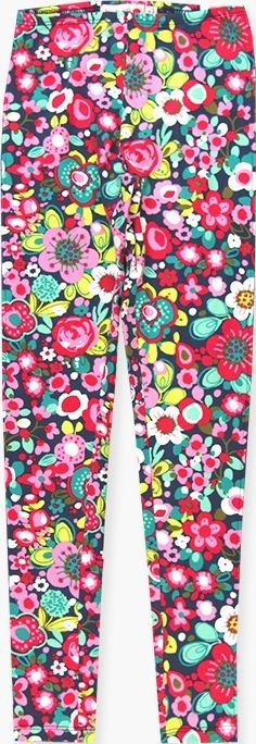 Boboli 17424033-9582 Stretch knit leggings for girl with print of flowers in var