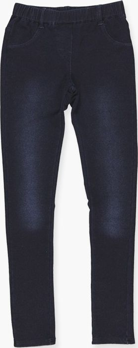 Boboli 17494041-BLUE D. Stretch fleece denim trousers for girl in colour blue da
