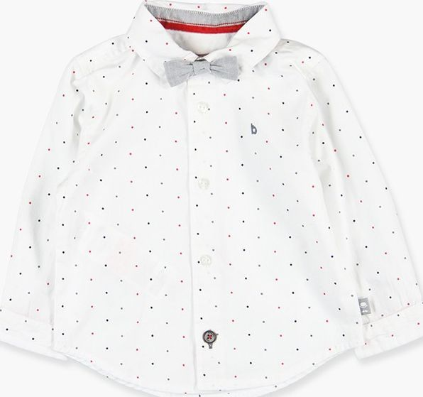Boboli 17714013-9513 Poplin shirt with long sleeves for boy printed in dots, the