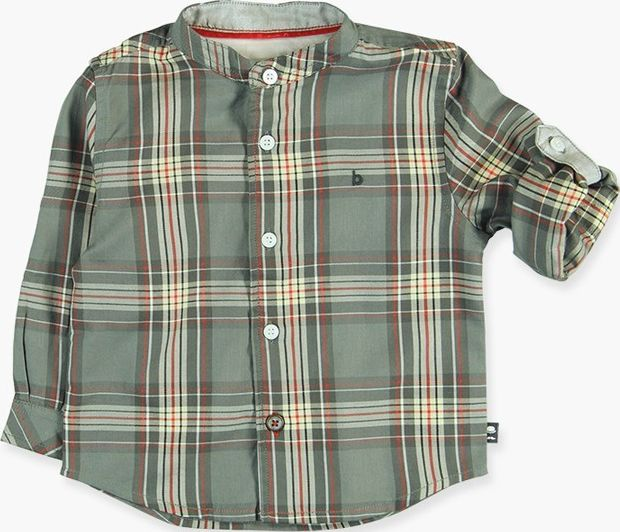 Boboli 17714035-9515 Poplin shirt for boy squared with long sleeves, it closes w