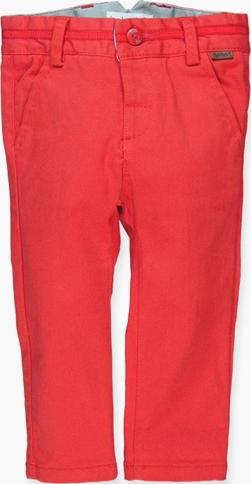 Boboli 17714057-3545 Stretch satin trousers for boy in colour scarlet, the waist