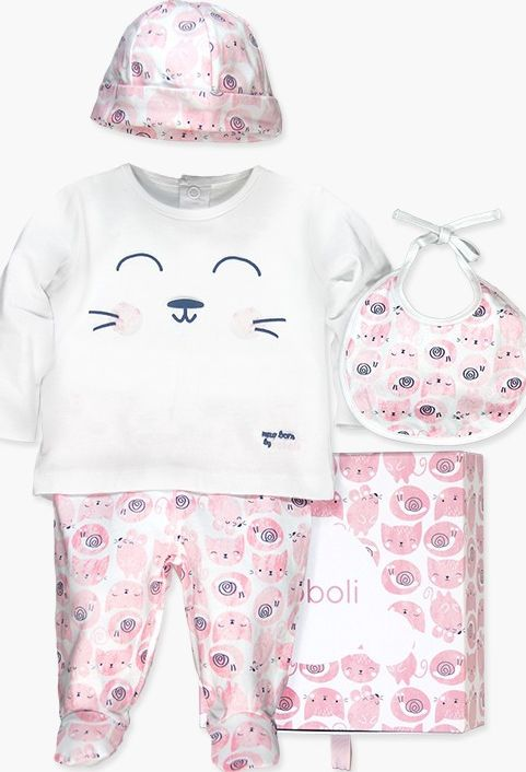 Boboli 27113016-9392 Pack 4 pieces with gift case for baby
