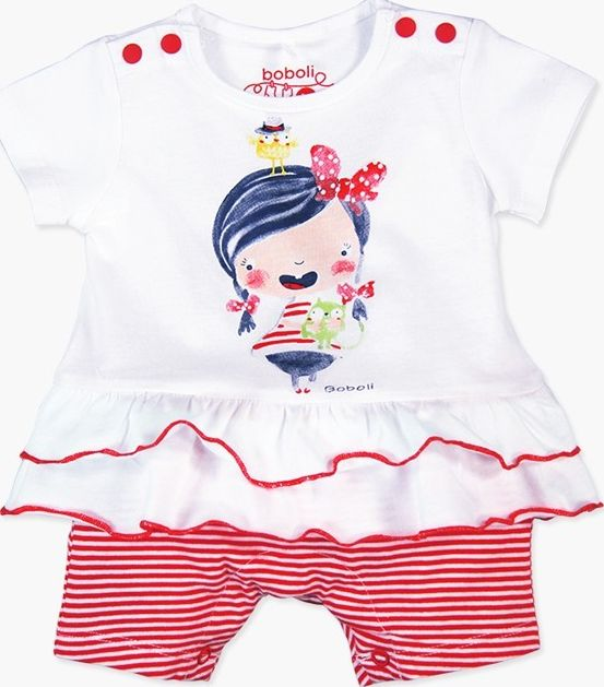 Boboli 27133074-1100 Knit play suit for baby girl