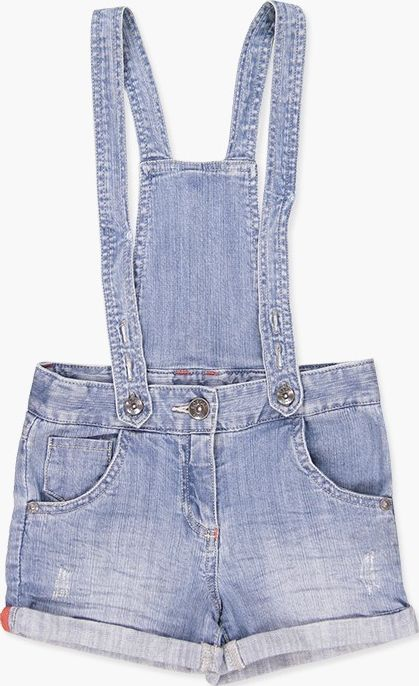 Boboli 27453080-BLEACH Denim dungarees for girl