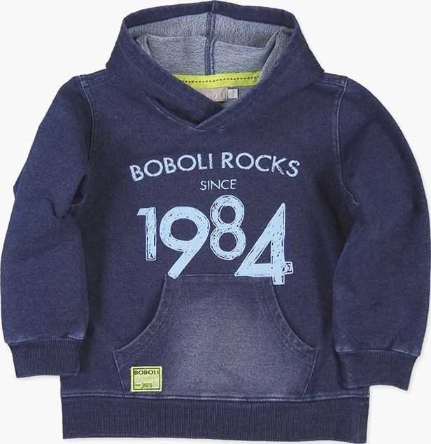 Boboli 27503097-BLUE Fleece sweatshirt denim for boy