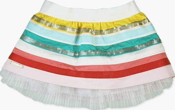 Boboli 27703167-1100 Saten skirt for baby girl