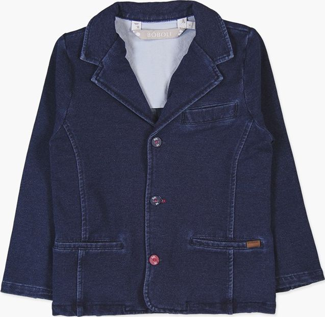 Boboli 27733373-BLUE Fleece blazer denim for boy
