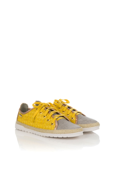 7ad1dd651fdae Tenisky s krokodílím vzorom žlté AXEL 1211-0050 empty