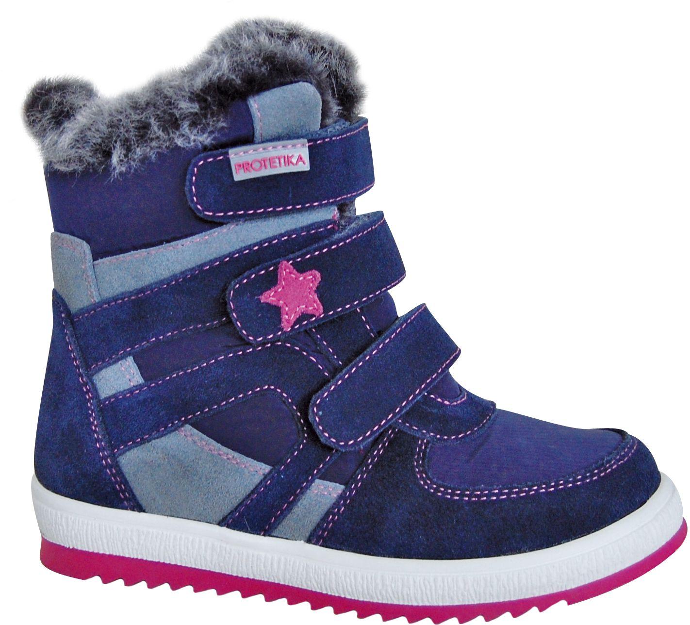 Zimné topánky PENY navy - zateplené kožušinkou fddde550371