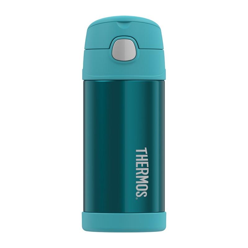 Thermos FUNtainer - detská termoska so slamkou 355 ml - celá tyrkysová b9462258ba6