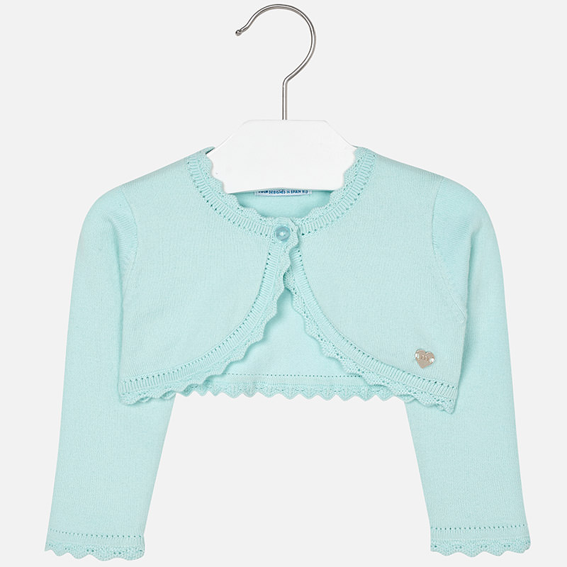 Mayoral 00306086 Basic knitted cardigan Aqua