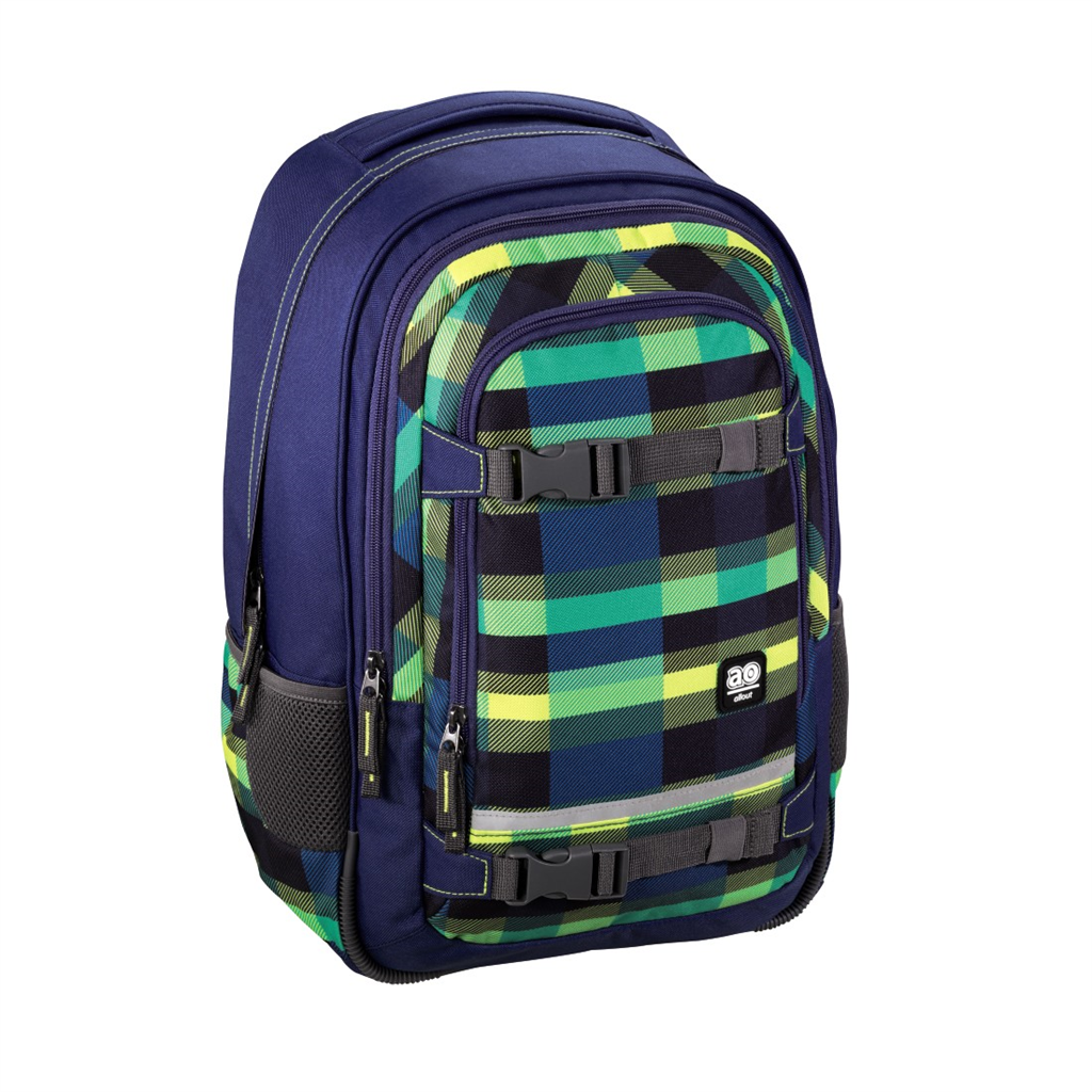 "Školský ruksak All Out ""Selby"" Backpack, Summer Check Green"