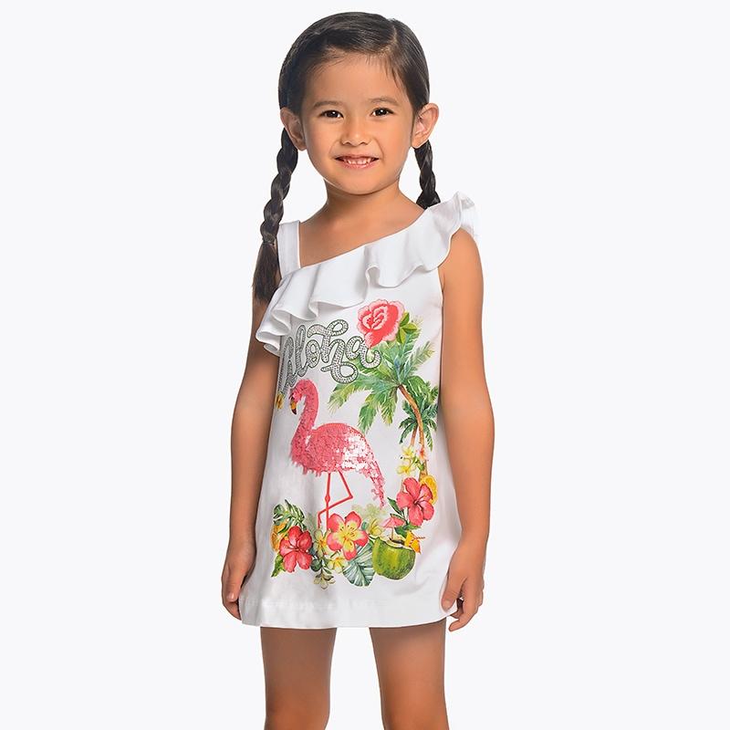 3daddc616b7f Letné šaty s plameniakom Mayoral - 03953027