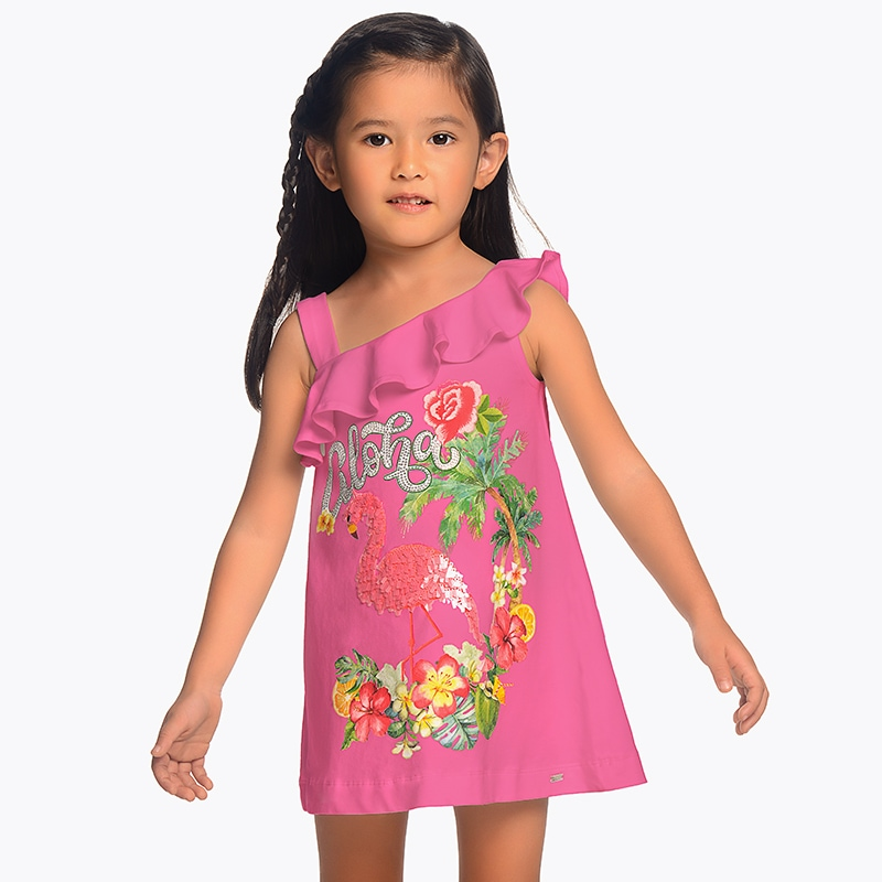 aa63f1f4fff4 Letné šaty s plameniakom Mayoral - 03953028