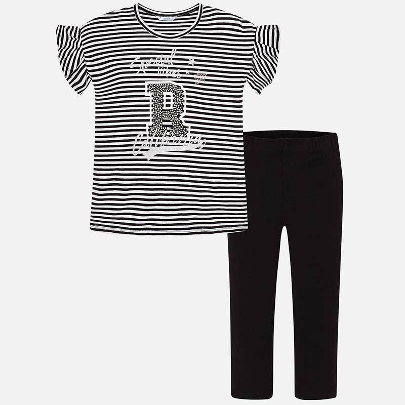 Pruhovaný set - tričko s potlačou a legíny Mayoral - 06705012 db5199c756a
